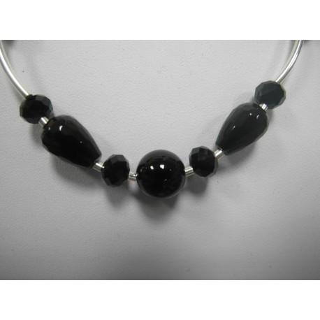 Ónyx - náhrdelník,náušnice - Ag925