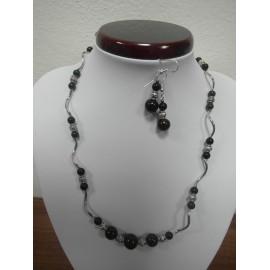 Ónyx - náhrdelník,náušnice