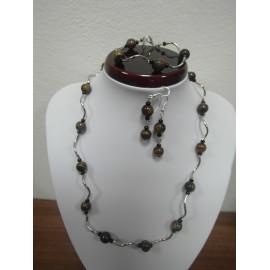 Tigrie oko - náhrdelník,náramok,náušnice