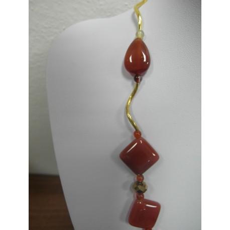 Karneol - náhrdelník,náušnice