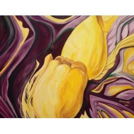 Obraz - Olejomaľba na plátne - Tulipány - Anna Hirková