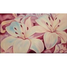 Obraz - Olejomaľba na plátne - Ľalie - Anna Hirková