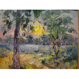 Obraz/Akryl - Západ Slnka na rieke San - Ester Ksenzsighová
