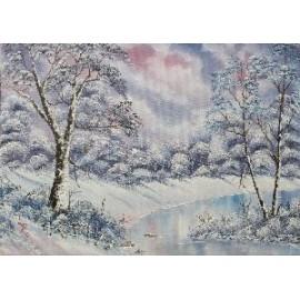 Obraz - Olejomaľba - Zima - Ján Lupčo