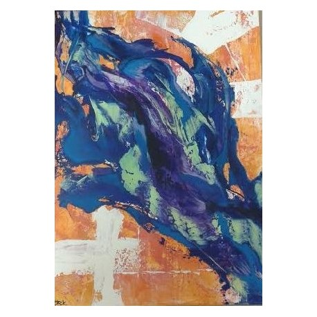 obraz - Oranžový vtáčik