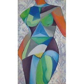 Obraz - Akryl - Kubistická žena - Marián Brek