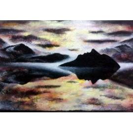 Obraz - Olejomaľba - Opustený ostrov - Mgr. Art Kamil Jurašek