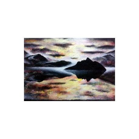 Obraz - Opustený ostrov, z cyklu čierne diery (2009)