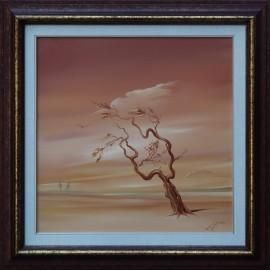 Obraz - Olejomaľba na plátne - Vietor, ktorý prináša pokoj - akad. mal. Alexander Jazykov