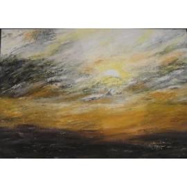 Obraz - Olejomaľba - Východ slnka - Ružena Pavlíková