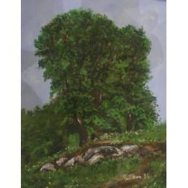 Obraz - Olejomaľba - Tri stromy - Ružena Pavlíková