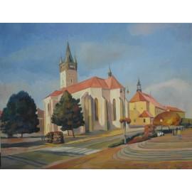 Obraz - Olejomaľba na plátne - Kostol sv. Mikuláša - Mgr. Art. Jaroslav Staviščák