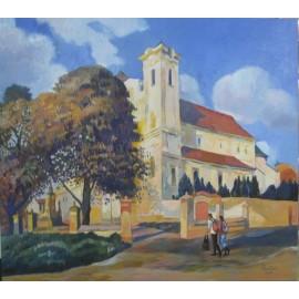 Obraz - Olejomaľba na plátne - Františkánsky kostol - Mgr. Art. Jaroslav Staviščák