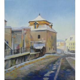 Obraz - Olejomaľba na plátne - Pod kumštom - Mgr. Art. Jaroslav Staviščák