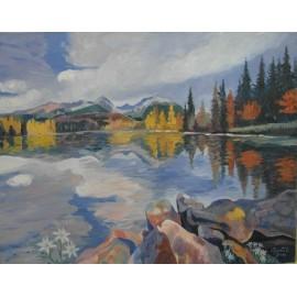 Obraz - Olejomaľba na plátne - Tatry - Mgr. Art. Jaroslav Staviščák
