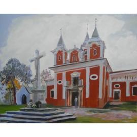 Obraz - Olejomaľba na plátne - Kalvária - Mgr. Art. Jaroslav Staviščák