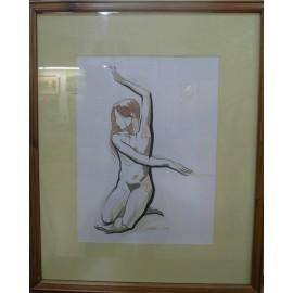Obraz - Akvarel, tuš - Etuda - Mgr. Art Kamil Jurašek