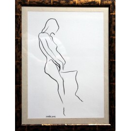 Obraz - Kresba tušom - Postava 1 - Mgr. Art Kamil Jurašek