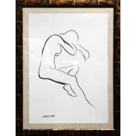 Obraz - Kresba tušom - Postava 3 - Mgr. Art Kamil Jurašek