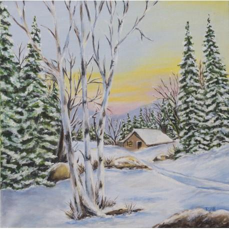 Obraz -Zimná krajina