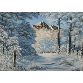 Obraz - Olejomaľba na plátne - Zima 5 - Ján Lupčo