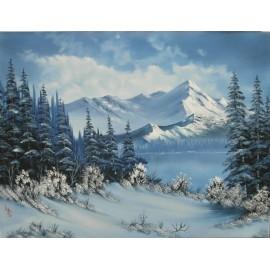Obraz - Olejomaľba na plátne - Zima 4 - Ján Lupčo