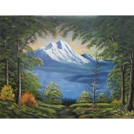 Obraz - Olejomaľba na plátne - Tajomná hora I. - Ján Lupčo