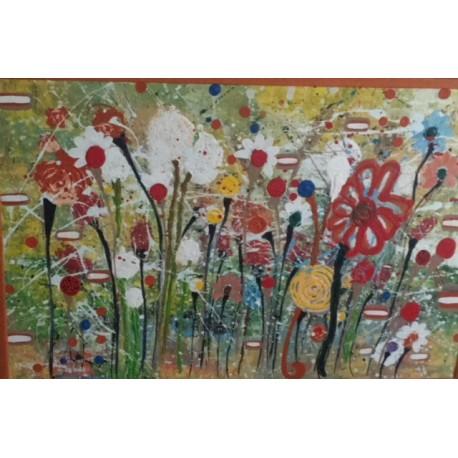 Obraz - Akryl - Krajina kvetov - Katarína Haraksimová