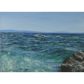 Obraz - Olejomaľba - Chorvátske vlny - Ružena Pavlíková