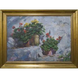 Obraz - Kvetinový vchod