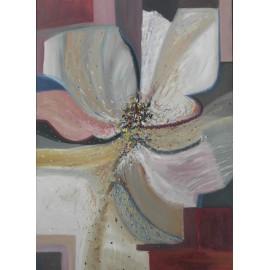Obraz - Olejomaľba - Abstraktný kvet vďačnosti - Ružena Pavlíková