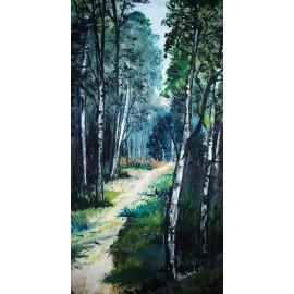 Obraz - Akryl - Cestička lesom - Ružena Pavlíková