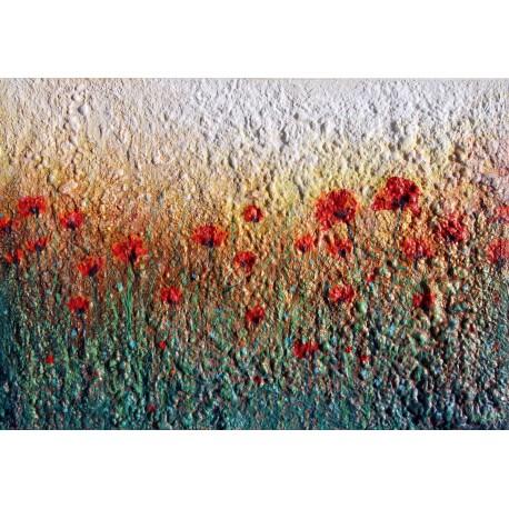 Obraz - Slnko v poli červených makov I.