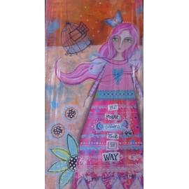 Obraz - Akryl - Dievča s motýľom - Silvia Sochuláková