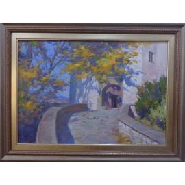 Obraz - Olejomaľba na plátne - Starý kaštieľ - akad. mal. Timour Karimov
