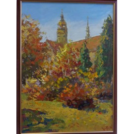 Obraz - Olejomaľba na kartóne - Košice v jeseni - akad. mal. Varuzhan Aghamyan