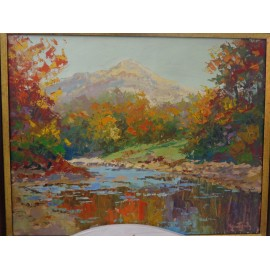 Obraz - Olejomaľba na plátne - Stará Lesná - akad. mal. Varuzhan Aghamyan