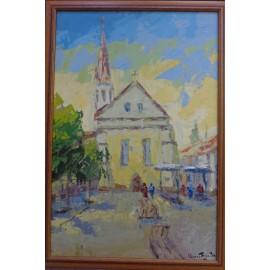 Obraz - Olejomaľba - Dominikánske námestie - akad. mal. Varuzhan Aghamyan