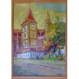 Obraz - Olejomaľba - Urbanova veža - akad. mal. Varuzhan Aghamyan