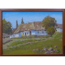 Obraz - Olejomaľba - Chalúpka - akad. mal. Varuzhan Aghamyan