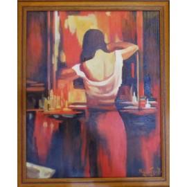 Obraz - Olejomaľba - Žena pred zrkadlom - akad. mal. Varuzhan Aghamyan
