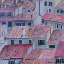 Obraz- Akryl- Marseilles - strechy - Ing. arch. Eva Lorenzová