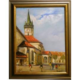 Obraz - Olejomaľba na plátne - Prešov - zadný portál - Vladimír Semančík