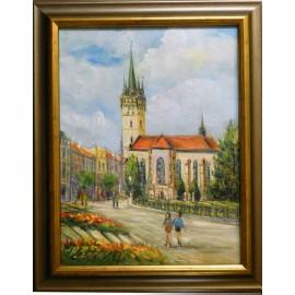 Obraz - Olejomaľba na plátne - Kostol sv.Mikuláša - Vladimír Semančík