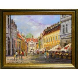 Obraz - Olejomaľba na plátne - Floriánka - Vladimír Semančík