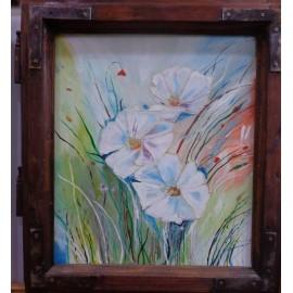 Obraz - Maľba na sklo - Kvety - Alexander Orlík