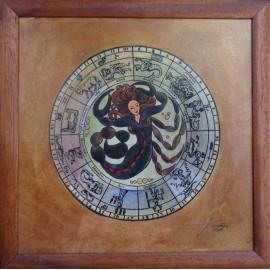 Obraz - Akvarel - Tuš - Znamenia zverokruhu - Škorpión - Janka Onušková