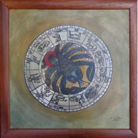 Obraz - Akvarel - Tuš - Znamenia zverokruhu - Rak - Janka Onušková