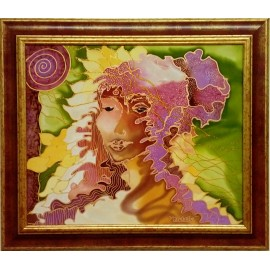 Obraz - Maľba na hodváb - Anjel pokory - PhDr. Elena Ruta-Marchallé