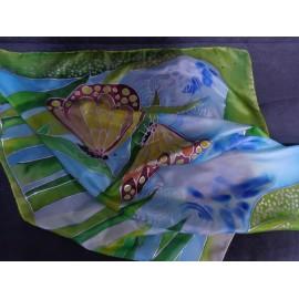 Ručne maľovaný obraz - na hodvábe, Anjel vody